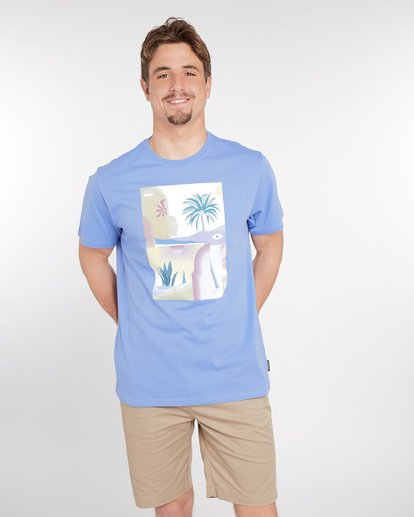 2 Wandering Eye T-Shirt Blue J1SS16BIS8 Billabong