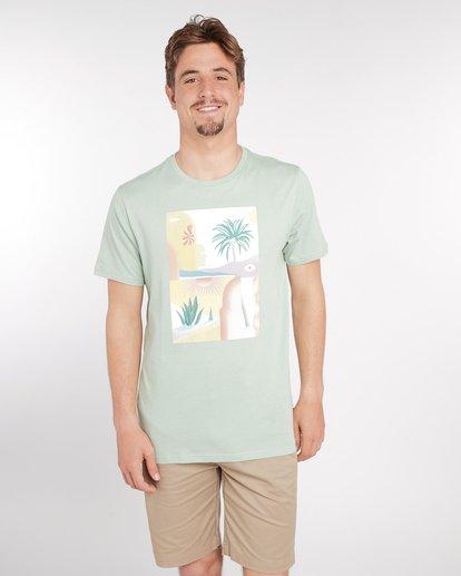 1 Wandering Eye T-Shirt Green J1SS16BIS8 Billabong