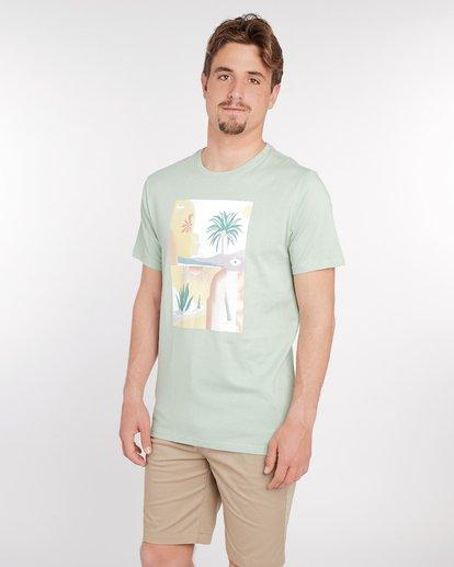 2 Wandering Eye T-Shirt Green J1SS16BIS8 Billabong