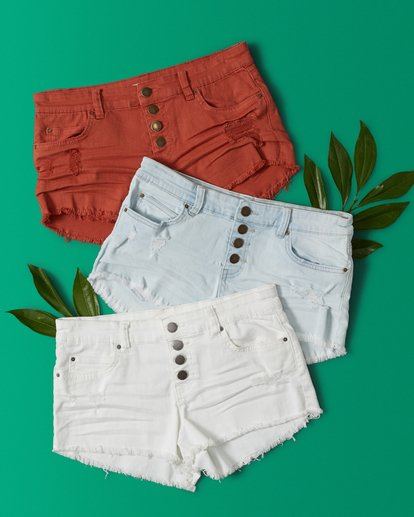 0 Buttoned Up Denim Short Brown J204GBUT Billabong