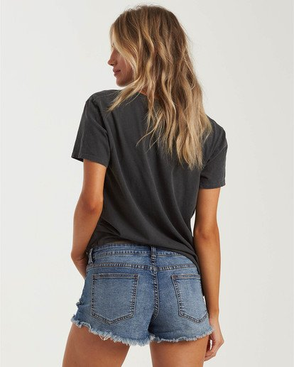 2 Buttoned Up Denim Short Black J204GBUT Billabong
