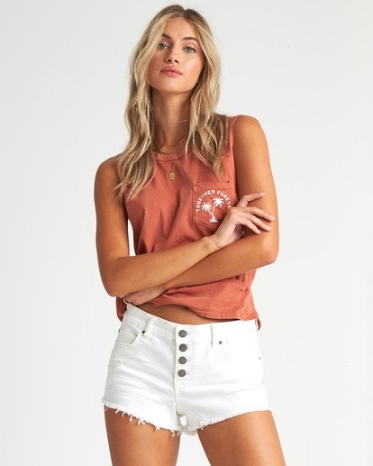 3 Buttoned Up Denim Short White J204GBUT Billabong