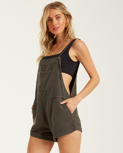 4 Wild Pursuit Short Overall Black J204TBWI Billabong