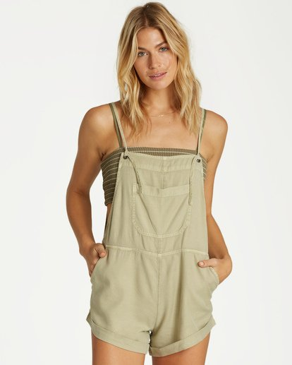 1 Wild Pursuit Short Overalls Green J204TBWI Billabong