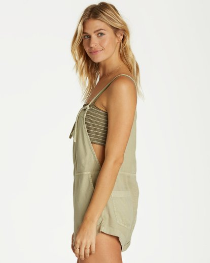 2 Wild Pursuit Short Overalls Green J204TBWI Billabong