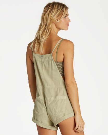 3 Wild Pursuit Short Overalls Green J204TBWI Billabong