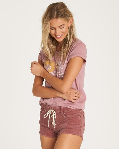 1 Lite Hearted Cord Short Purple J215VBLI Billabong