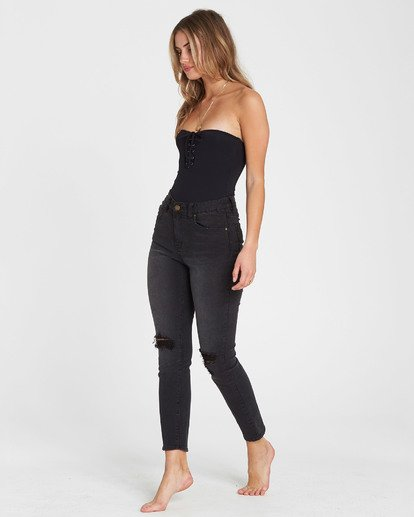 2 Cheeky High-Waisted Jeans Black J301SBCH Billabong