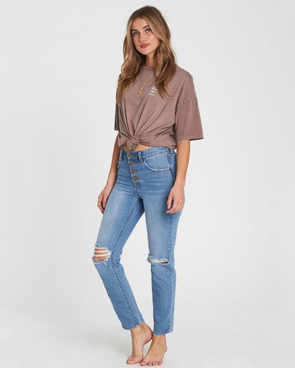 1 Button Cheeky High-Rise Jeans  J307SBBU Billabong