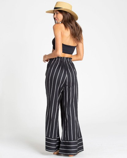 2 Flip Out Wide Leg Pant Black J318TBFL Billabong
