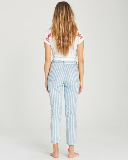 2 Cheeky Stripe High-Waisted Denim Pant Blue J319TBCH Billabong