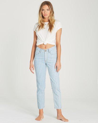 0 Cheeky Stripe High-Waisted Denim Pant Blue J319TBCH Billabong