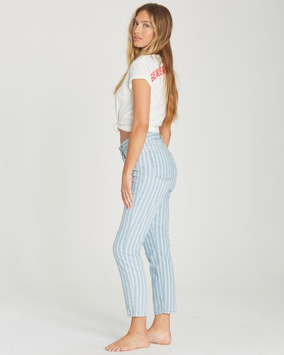 1 Cheeky Stripe High-Waisted Denim Pant Blue J319TBCH Billabong