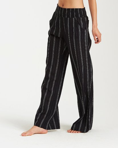 3 New Waves Stripe Pant Black J323JNEW Billabong
