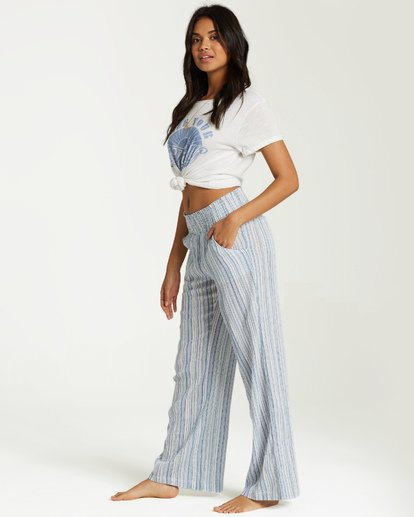 1 New Waves Stripe Pant Blue J323JNEW Billabong