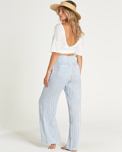 2 New Waves Stripe Pant Blue J323JNEW Billabong