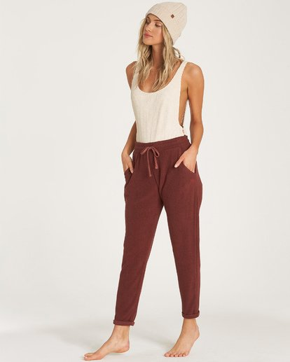 1 So Cozy Fleece Pant Purple J324VBSO Billabong