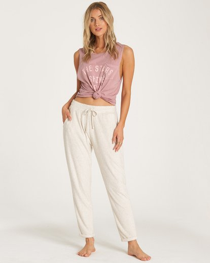 0 So Cozy Fleece Pant White J324VBSO Billabong