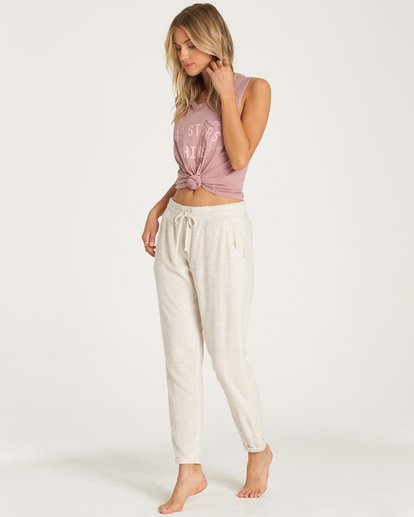 1 So Cozy Fleece Pant White J324VBSO Billabong
