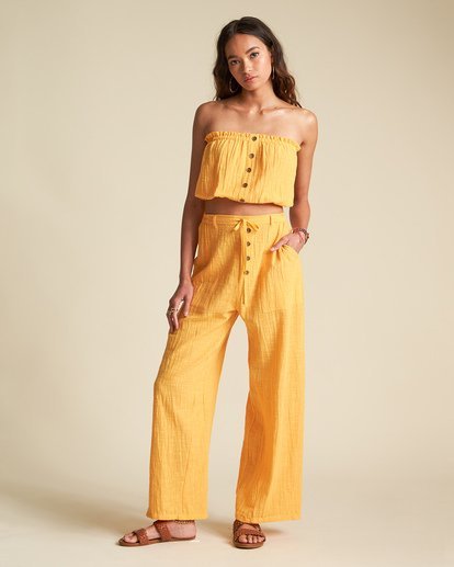 2 Sincerely Jules Bring On Pant Orange J3401BBR Billabong