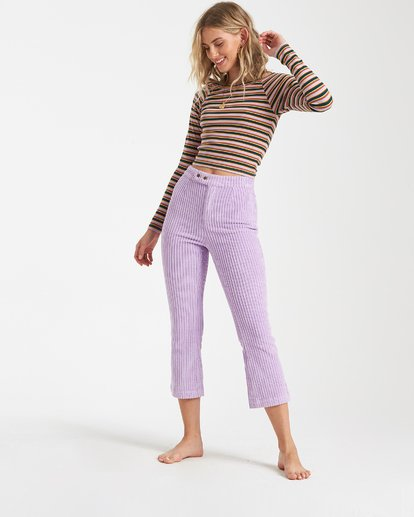 2 Jagger Corduroy Pants Purple J360VBJA Billabong
