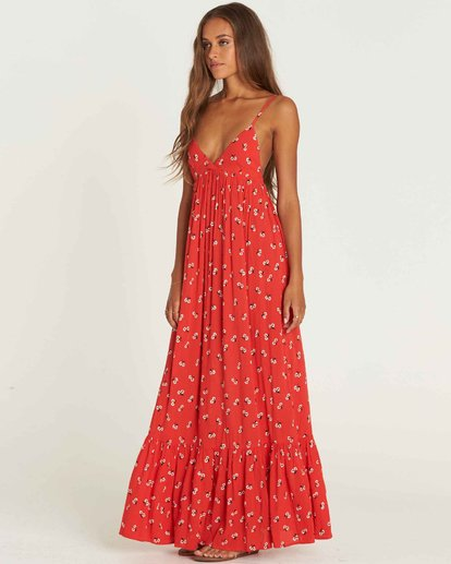 2 Flamed Out Maxi Dress Rouge J3DR08BIS8 Billabong