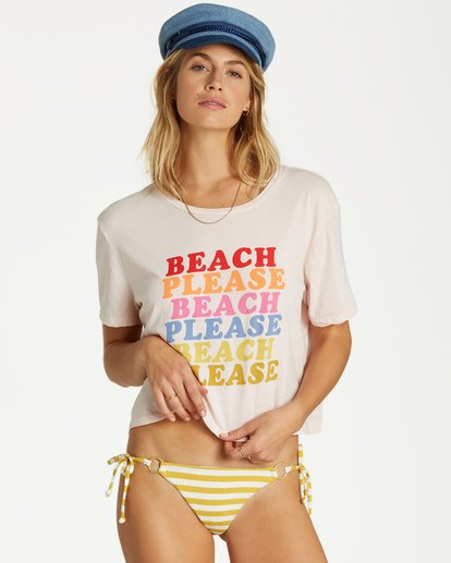 0 Beach Please T-Shirt Pink J402VBBE Billabong