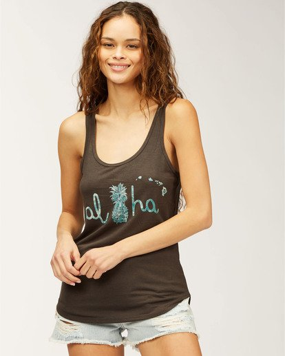 0 Hawaii Aloha Coast Tank Top Black J405CACH Billabong