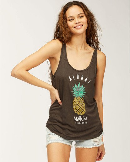 0 Waikiki Pineapple Love Tank Top Black J405CPWI Billabong