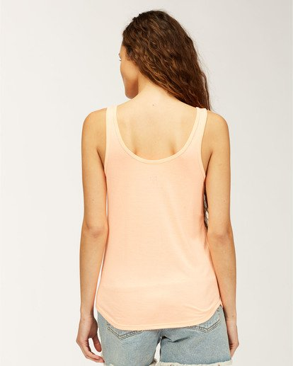 2 Flower Tank Top Orange J405WBFR Billabong