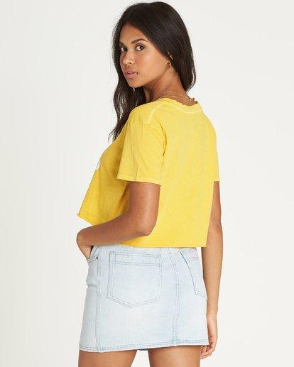 3 Kissed By The Sun T-Shirt Yellow J413UBKI Billabong