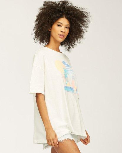 1 Stay Here Boyfriend T-Shirt White J4183SND Billabong