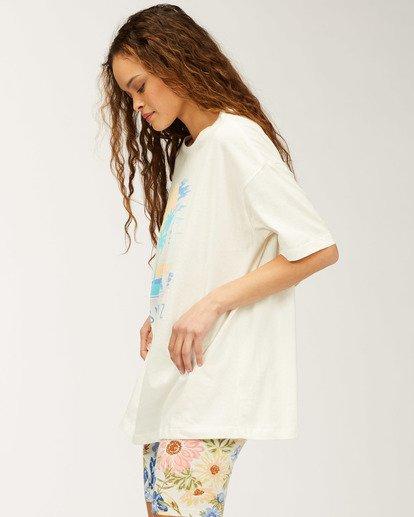 1 Santa Cruz Stay Here T-Shirt White J4183SSC Billabong