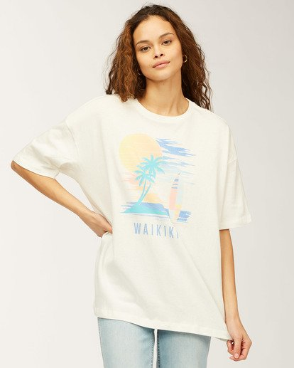 0 Waikiki Stay Here T-Shirt White J4183SWI Billabong