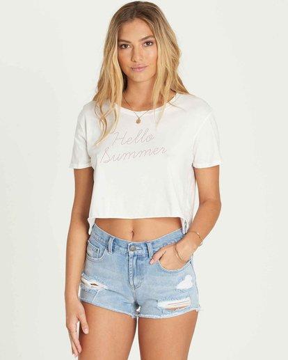 0 Hello Summer Crop T-Shirt  J436PBHE Billabong