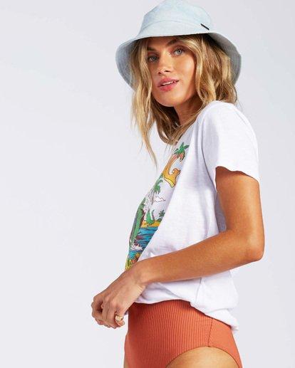 1 Florida Gatordaze T-Shirt White J4371BGR Billabong