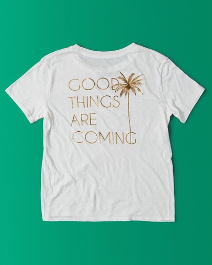 3 They Are Coming T-Shirt White J4371BTH Billabong