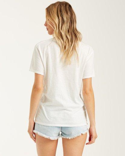 2 Peace And Summertime T-Shirt White J4372BPE Billabong