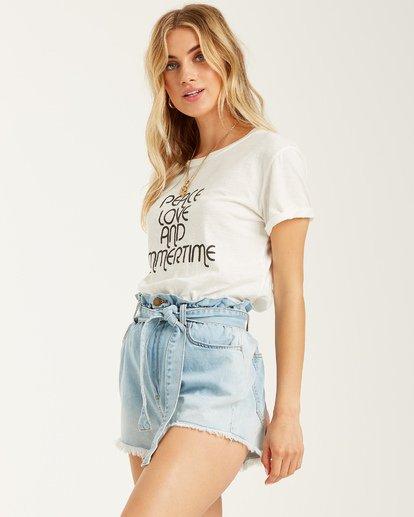 1 Peace And Summertime T-Shirt White J4372BPE Billabong