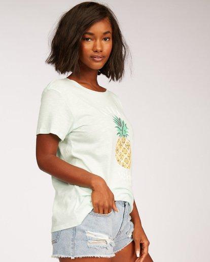 1 Waikiki Pineapple Love T-Shirt Green J437MPIR Billabong