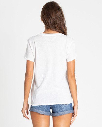 2 Salty Beach Tee White J437TBSA Billabong