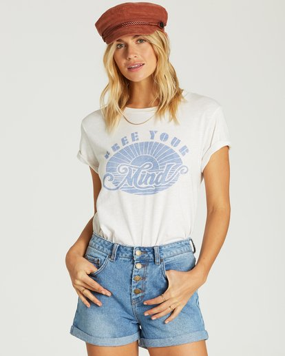 1 Free Your Mind T-Shirt White J437VBFR Billabong