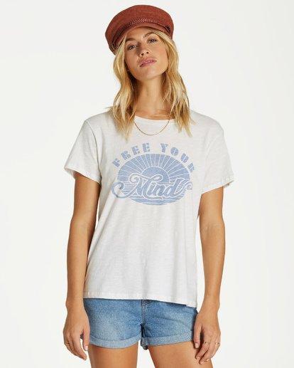 4 Free Your Mind T-Shirt White J437VBFR Billabong