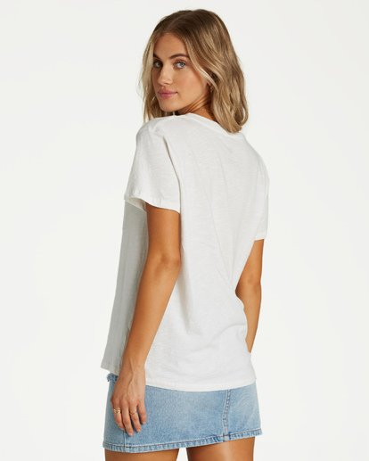 2 Slow And Steady T-Shirt White J437VBSL Billabong