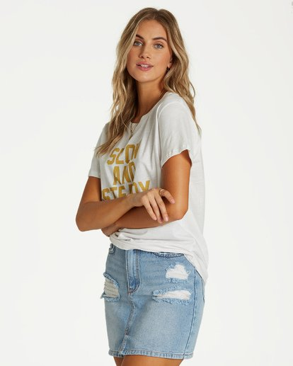 1 Slow And Steady T-Shirt White J437VBSL Billabong