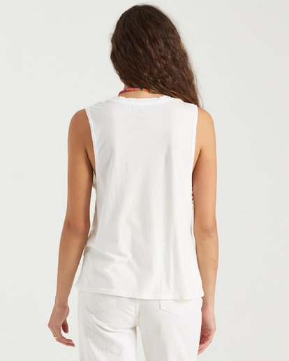 3 Beach Shade Tank White J4423BBE Billabong