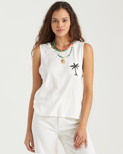 1 Beach Shade Tank White J4423BBE Billabong