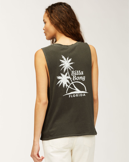 2 Florida Dos Palmas Tank Top Black J4423DFL Billabong