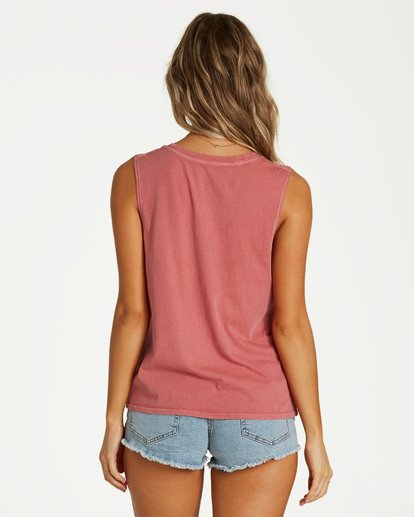 2 Peaceful Palms Tank Pink J442VBPE Billabong