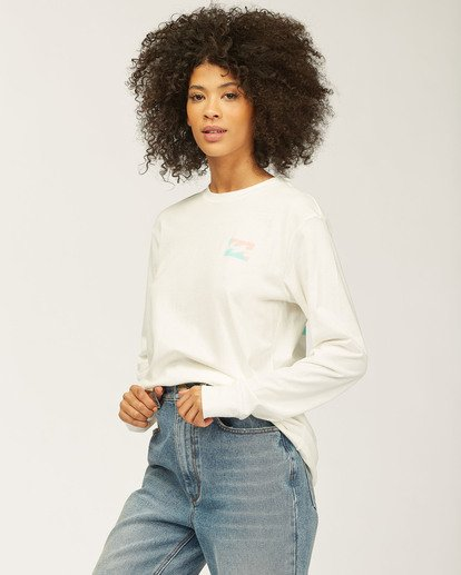 1 Sideline Seas Long Sleeve T-Shirt White J4463DND Billabong